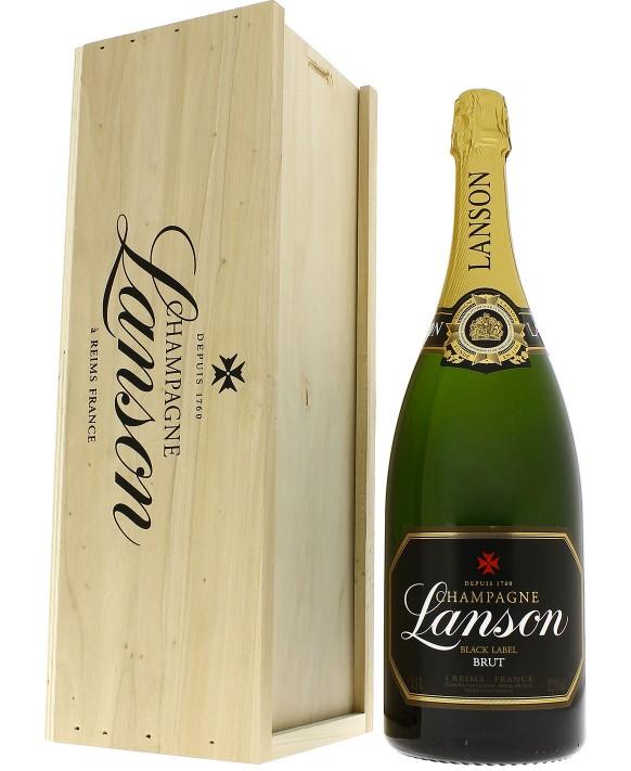 Champagne Lanson Black Label wooden box Magnum 150cl