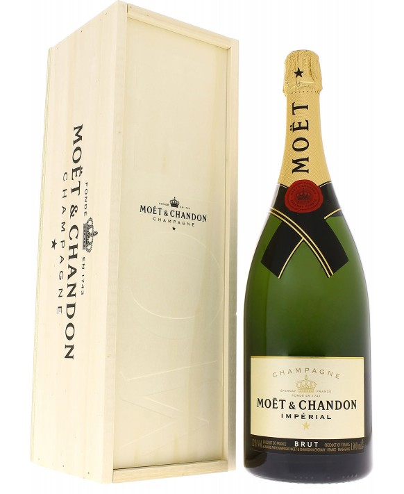 Champagne Moet Et Chandon Brut Impérial wooden case Magnum 150cl