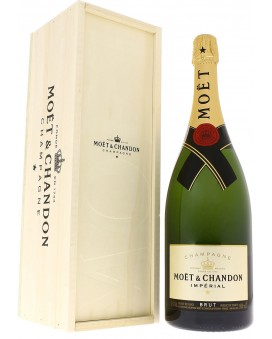 Champagne Moet Et Chandon Brut Impérial caisse bois Magnum