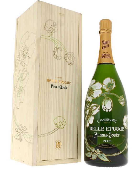 Champagne Perrier Jouet Magnum Belle Epoque 2002 wooden case 150cl