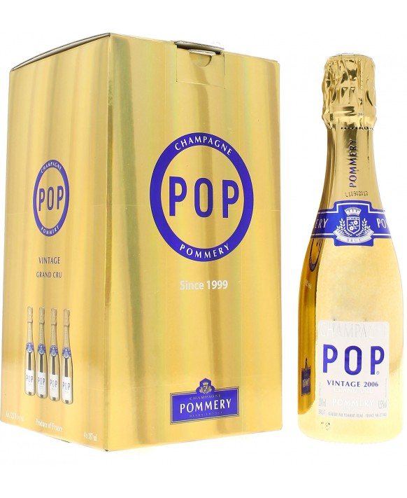 Champagne Pommery Pack quatre quarts Pop Gold