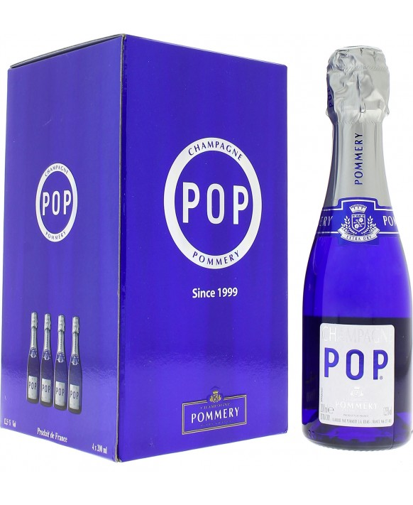 Champagne Pommery Pack four Pop quarter