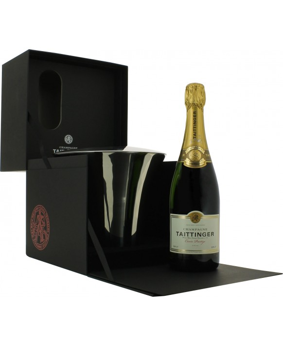 Champagne Taittinger Brut Cuvée de Prestige and bucket