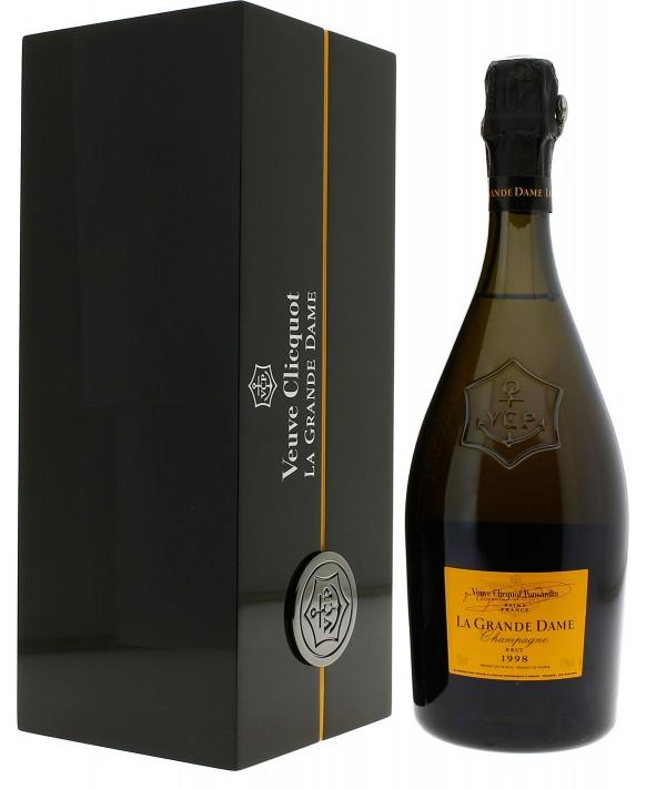 Champagne Veuve Clicquot La Grande Dame Blanc 1998 coffret laqué 75cl