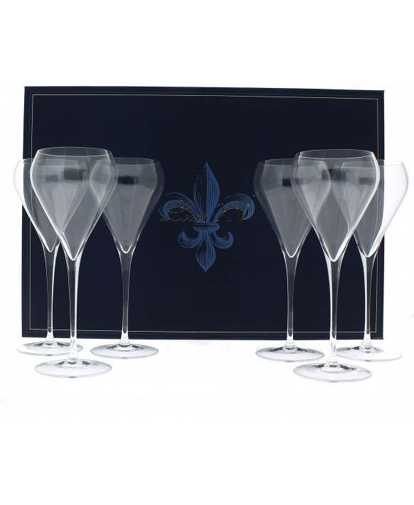 Champagne De Venoge 6 Louis XV Champagne flûtes casket