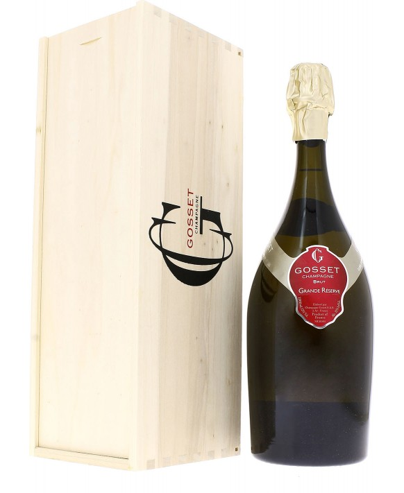 Champagne Gosset Grande Réserve Brut Magnum caisse bois