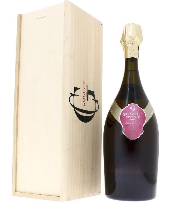 Champagne Gosset Grand Rosé caisse bois Magnum 150cl