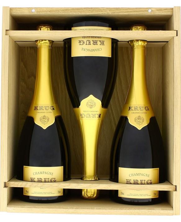 Champagne Krug Coffret de trois la Grande Cuvée 75cl