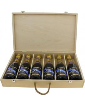 Champagne De Venoge Cordon Bleu wooden box of 6 half bottle