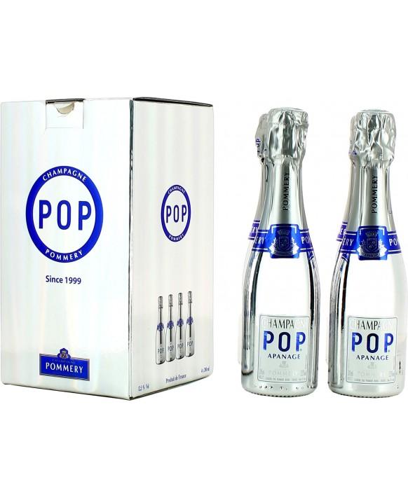 Champagne Pommery Pack quatre quarts Pop Silver