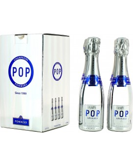 Champagne Pommery Pack four Pop Silver quarter