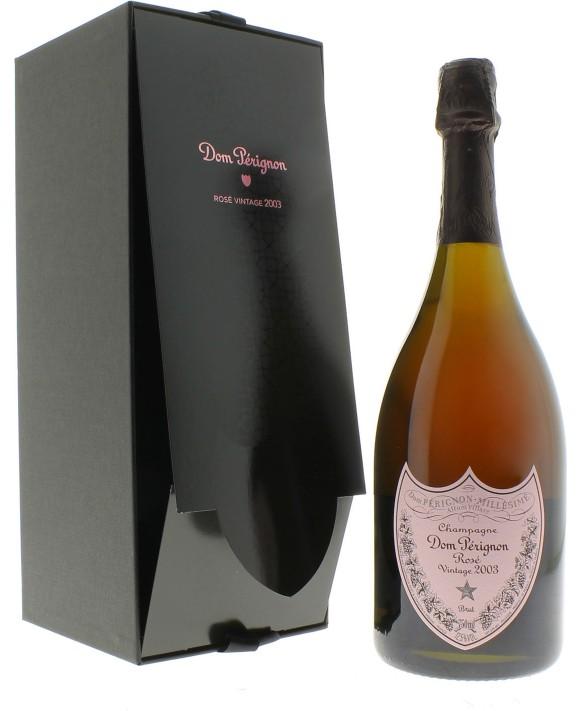 Champagne Dom Perignon Rosé Vintage 2003 en coffret luxe
