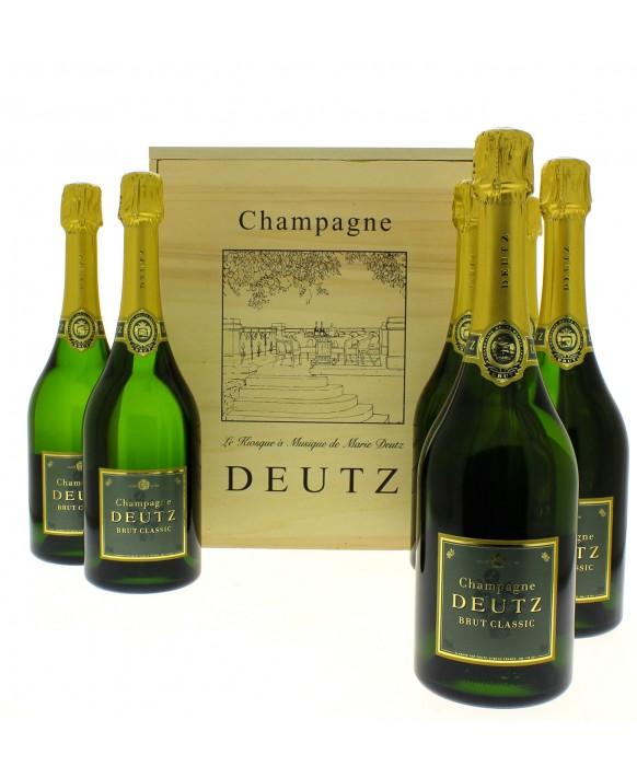Champagne Deutz Wooden case of 6 Brut Classic