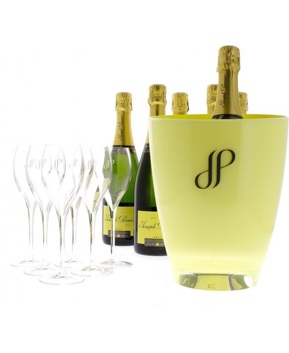 Champagne Joseph Perrier Cuvée Royale Brut + 6 flûtes et 1 seau 75cl