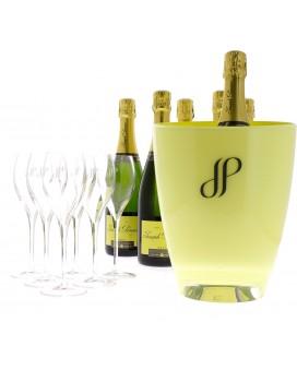 Champagne Joseph Perrier Cuvée Royale Brut + 6 flûtes + 1 bucket