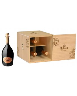Champagne Ruinart 4 r de Ruinart Rosé wooden box