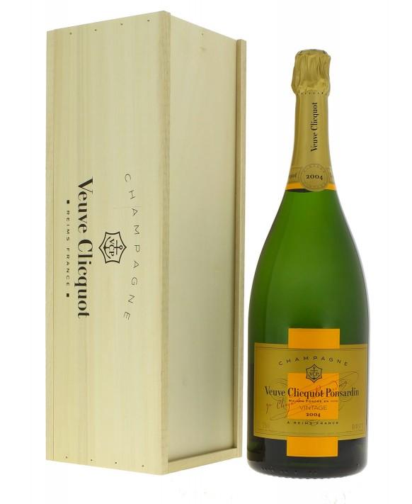 Champagne Veuve Clicquot Vintage 2004 caisse bois Magnum