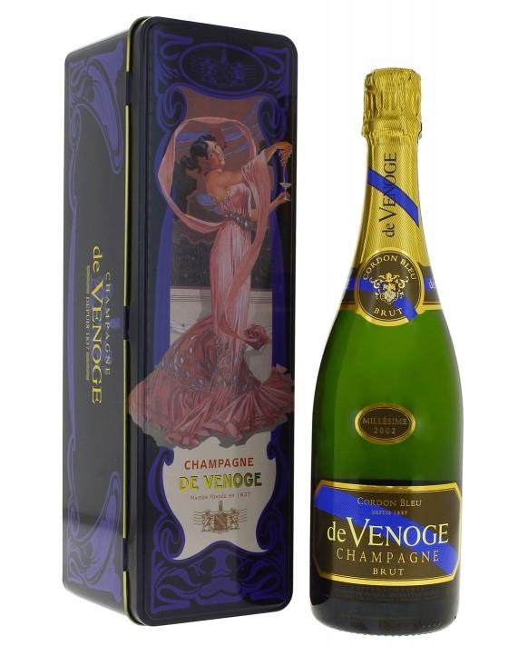 Champagne De Venoge Cordon Bleu 2002 boite métal 75cl