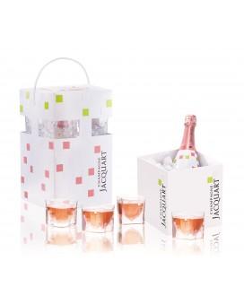Champagne Jacquart Rosé Cube box
