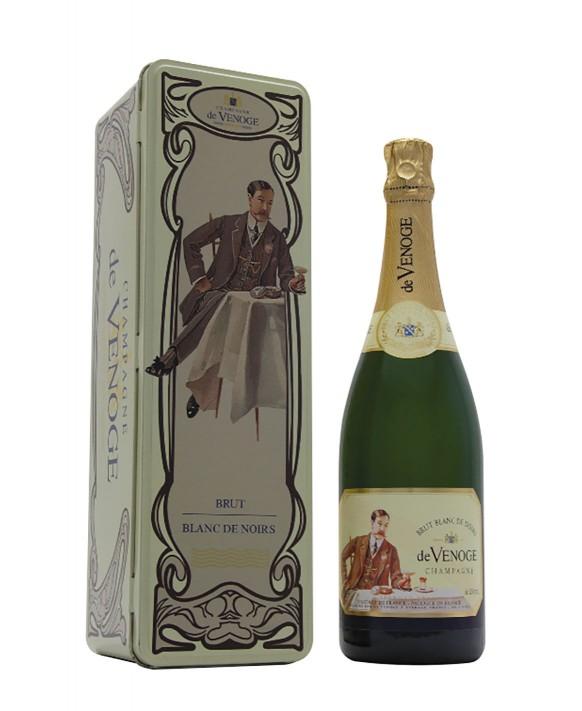 Champagne De Venoge Blanc de Noirs coffret métal art déco 75cl