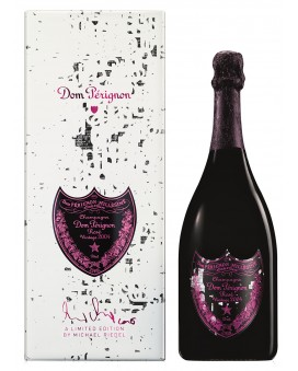 Champagne Dom Perignon Rosé Vintage 2004 coffret Michael Riedel