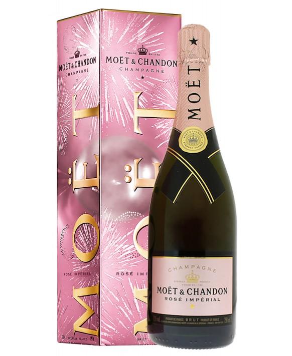 Champagne Moet Et Chandon Rosé Impérial Eclats de bulles gift box 75cl