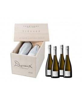 Champagne Devaux Sténopé 2008 4 bouteilles en caisse bois