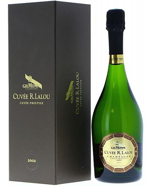 Champagne Mumm Cuvée R.Lalou 2002 coffret