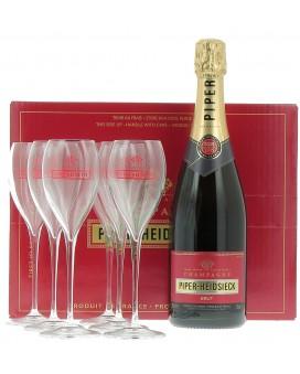 Champagne Piper - Heidsieck Cuvée Brut et 6 flûtes offertes