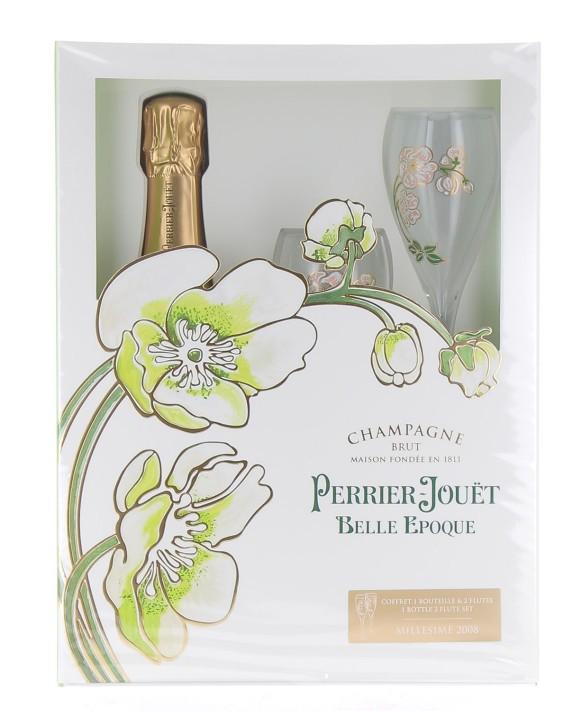 Champagne Perrier Jouet Belle Epoque 2008 casket (1 Brut, 2 flûtes) 75cl