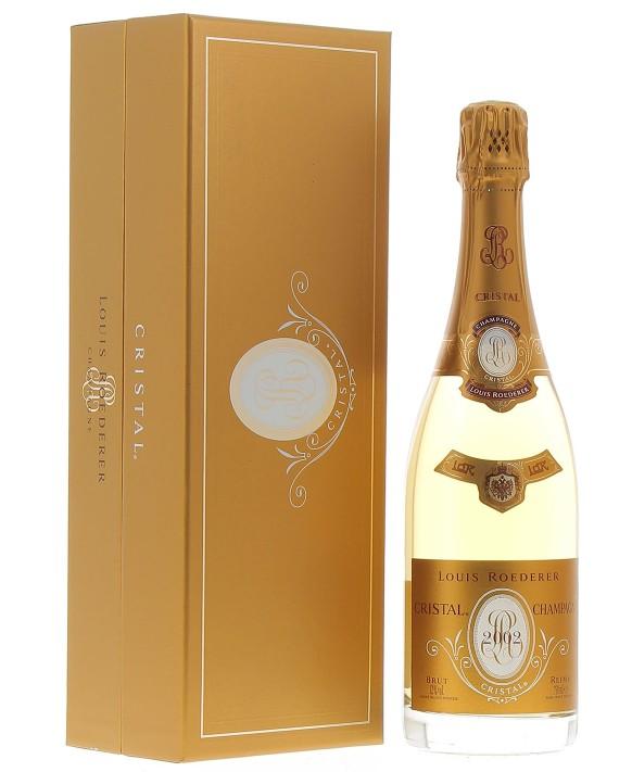 Champagne Louis Roederer Cristal 2002 coffret luxe