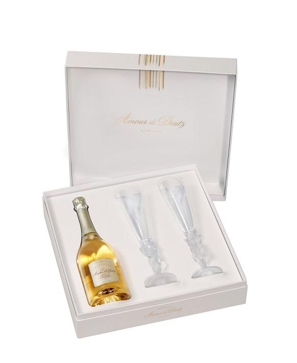 Champagne Deutz Amour de Deutz 2010 et deux flûtes