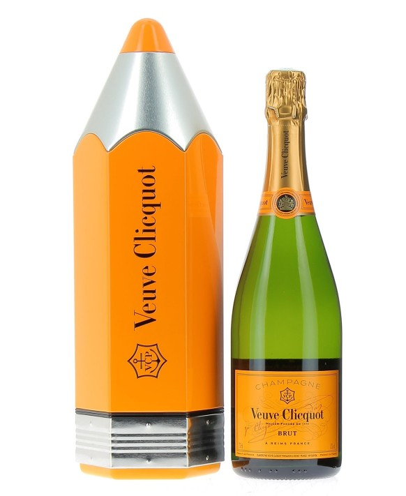 Champagne Veuve Clicquot Carte Jaune coffret pencil