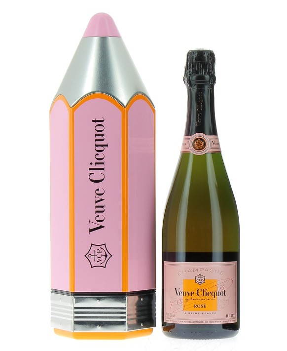 Champagne Veuve Clicquot Rosé pencil gift box