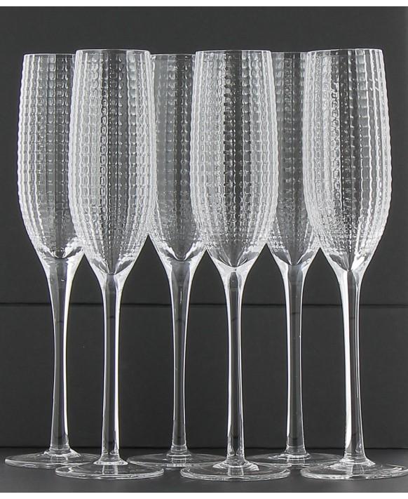 Champagne Nicolas Feuillatte 6 flûtes Black Pearl