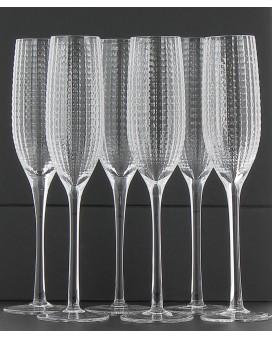 Champagne Nicolas Feuillatte 6 Champagne flûtes Black Pearl