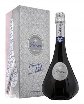 Champagne De Venoge Princes Extra-Brut message on a bottle