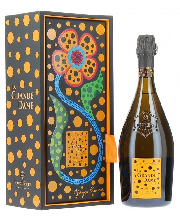 Champagne Veuve Clicquot La Grande Dame Blanc 2012 by Yayoi Kusama