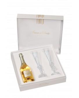 Champagne Deutz Amour de Deutz 2011 et deux flûtes