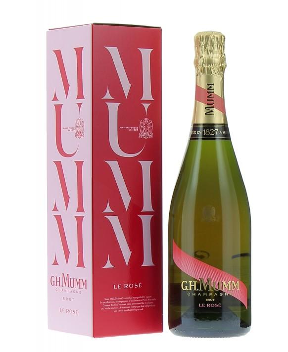 Champagne Mumm Rosé casket