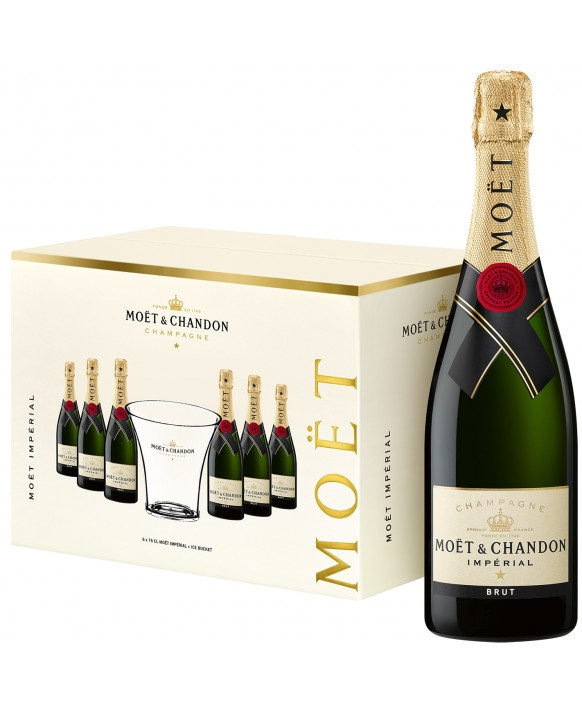 Champagne Moet Et Chandon 6 Brut Impérial and 1Champagne Bucket