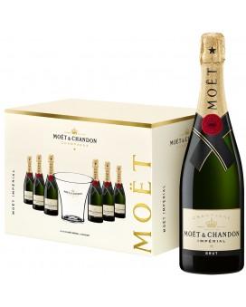 Champagne Moet Et Chandon 6 Brut Impérial et 1 Seau