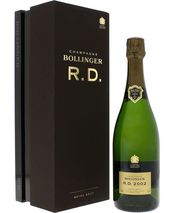 Champagne Bollinger R.D. 2002 casket