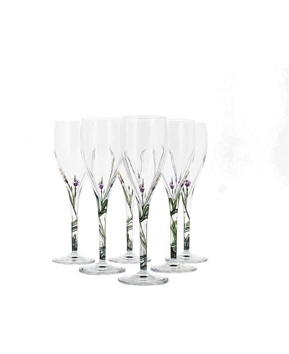 Champagne Demoiselle Six flûtes