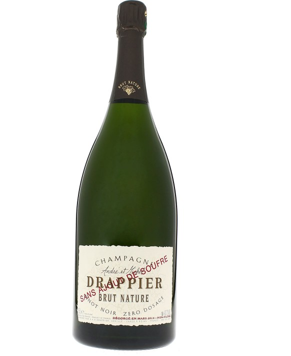 Champagne Drappier Brut Nature with no sulfur Magnum